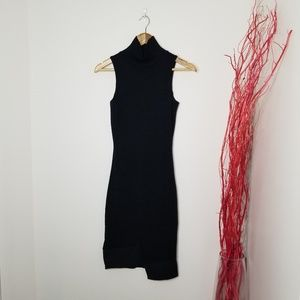 1. State | Black Mock Neck Sleeveless Dress
